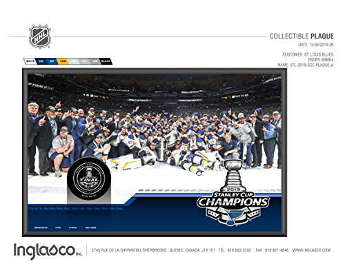 - Sherwood 2019 St. Louis Blues Stanley Cup Champions Collectible Wall Plaque with Team Image and Game Puck