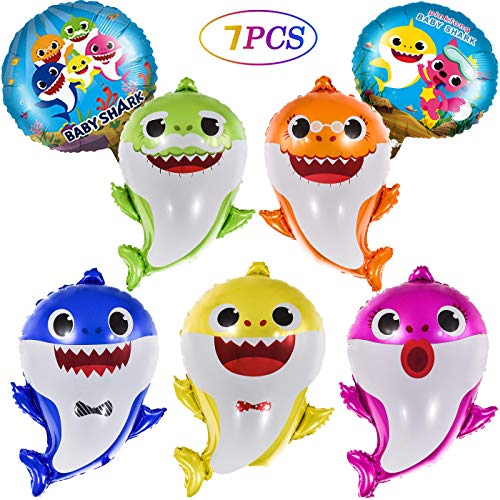Birthday Theme Ideas For Girls (OPATER Baby Shark Balloons Birthday Party Supplies Foil Helium Balloon Shark Family Members Doo Doo Do Gifts for Boys Girls Kids Baby Shower Decorations (7)