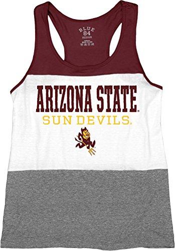 Arizona Top - Blue 84 NCAA Arizona State Sun Devils Tri-Blend Panel Tank Top, Maroon, Medium