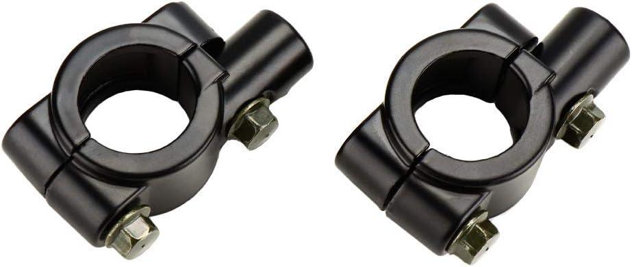2X 8mm Filettatura 22mm Manubrio Retrovisore Specchi Supporti per Montaggio Adattatori Morsetti