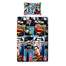 Batman Vs Superman Clash Childrens Comic Hero Reversible Design Single Bed Set