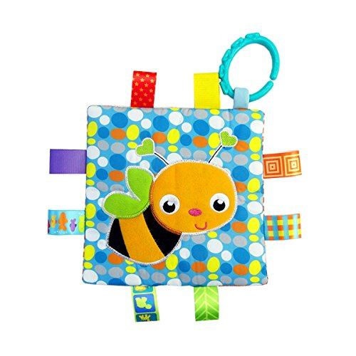 Little Taggie Like Theme Baby Sensory, Security & Teething Closed Ribbon Style Colors Security Comforting Teether Blanket - Honey Bee w/Gift Box