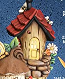 """Bumble Bee Abode 9"""" x 6"""" Fairy House Ceramic"""