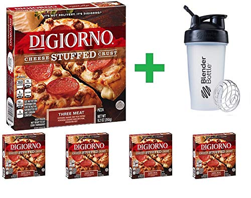 DiGiorno Cheese Stuffed Crust Three Meat Pizza 9.2 oz (5 PCS) + Sundesa, BlenderBottle, Classic With Loop