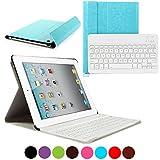 iPad 2/3/4 Keyboard Case, CoastaCloud iPad Ultrathin Removable Bluetooth Wireless Keyboard with Magnetically