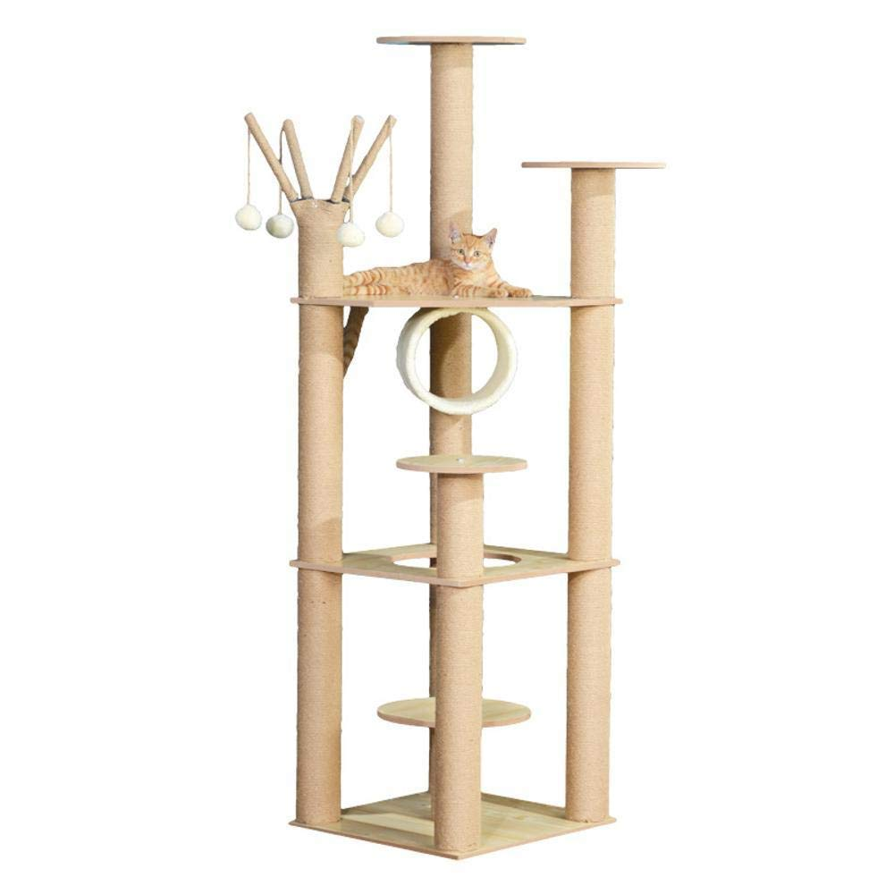 Deluxe Multi Cat Tower Creative Play Towers Trees for Cats Cat Climbing Tree Cat Climbing Frame cat Litter cat Tree Jumping cat Toy cat Grab Pillar 156cm 46cm  46cm