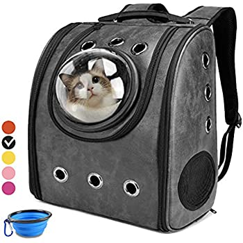 Cat Backpack Carriers, Cat Dog Bubble Backpack, Aukor Pet Carriers for Puppy Petite Dogs and Cats, Ventilated Cat Carrier Airline-Approved for Travel, ...