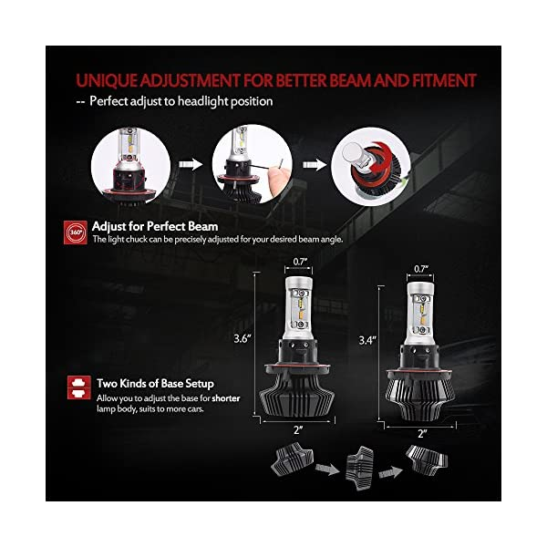 MICTUNING DUAL COLOR LED Headlight Bulb Conversion Kit H4H11H1390059006