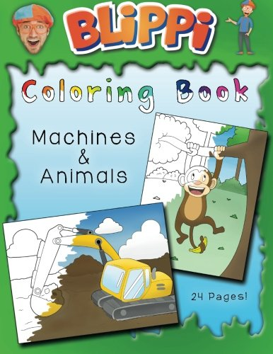 Blippi Coloring Book: Animals & Machines -