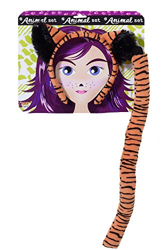 Forum Novelties Women's Playful Animals Tiger Costume Accessory Set, Multi, One size (Tiger Costume Adults)