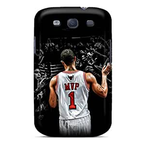 PhilHolmes Samsung Galaxy S3 Shock Absorption Hard Phone Cases Support Personal Customs Attractive Derrick Rose Series [PfO4601PRhO]