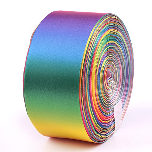 Rainbow Ribbon Double Side Colorful Printed 3