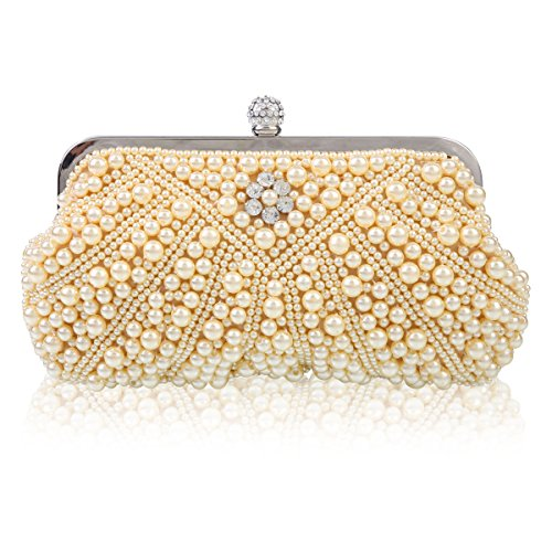 Champagne Elegant Handbag Damara Pearls Damara Bags Women Evening Elegant Messenger S1wq7w