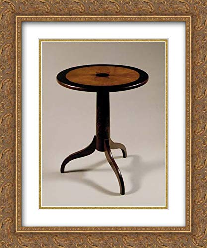 American Culture - 20x24 Gold Ornate Frame and Double Matted Museum Art Print - Tilt-top Tea Table