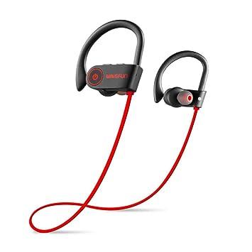 Auriculares Bluetooth IPX7 Impermeable, Auriculares Inalámbricos Deportes Bajo Bluetooth Auricular Con Micrófono, HD Estéreo Sweatproof Ruido Cancelación De ...