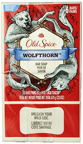 Old Spice Wild Collection Wolfthorn Men's Bar Soap 6 Count (2 (Guest Soap Collection)