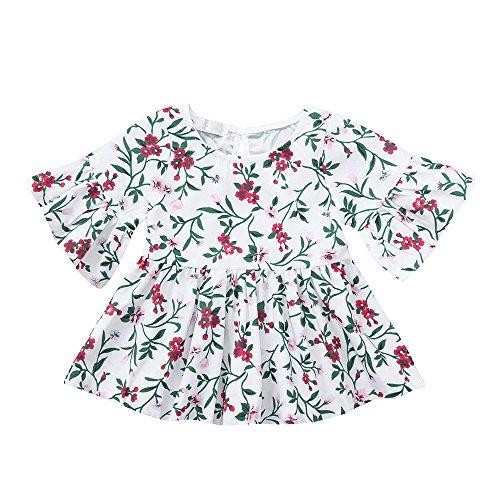 0699a01cce59e eacute  NINGSANJIN Manches Floral B V Infant ecirc tements Enfants  Princesse Filles Tenues Robe Toddler Flare eacute b QhtdxsCr