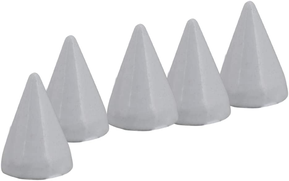 BQLZR White Metal Studs Cone Punk Spikes Spots Rivet Screwback Punk Leathercraft DIY Pack of 50