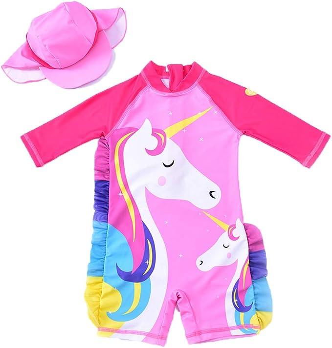 Amazon.com: QIJOVO traje de baño de una pieza para niña con ...