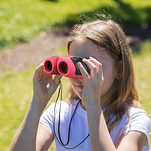 TOP Gift Toys for 3-12 Year Old Girls, Compact Binocular for Kids Gifts for Teen Girl Toys for 3-12 Year Old Boys Gifts for 3-12 Year Old Girls Boys Teen Girls Gifts Pink TGUS010
