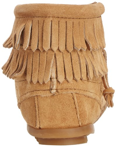 Taupe Zip Minnetonka Boot Double Fringe Side wnqnYX4S