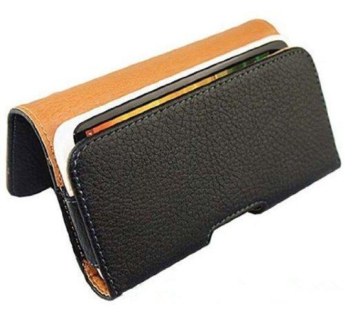 Hivel Funda de Cuero Piel con Trabilla para Cinturon Para Apple iPhone 6 / iPhone 6S Flip Billetera Carcasa Case Cover Negro 6-YAOBAO-DE