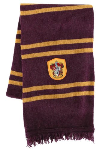 elope Harry Potter Officially Licensed Lamb's Wool Hogwarts House Scarf- Gryffindor Fancy Wool Scarves