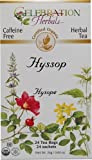 Celebration Herbals Teabags Herbal Tea Hyssop Organic -- 24 Herbal Tea Bags