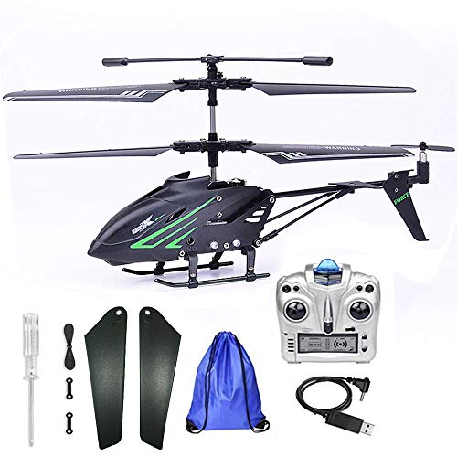Outdoor Remote Control Helicopter for Kids Age 8 RC Helicopter with Gyro Storage Bag … (Black)