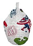 Marvel Avengers Bean Bag, Fabric, White, 52 x 38 x 52 cm