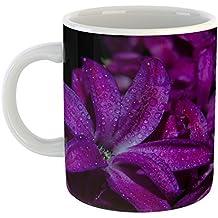 Westlake Art - Coffee Cup Mug - Flower Purple - Modern Picture Photography Artwork Home Office Birthday Gift - 11oz (*9m-4c0-19d)