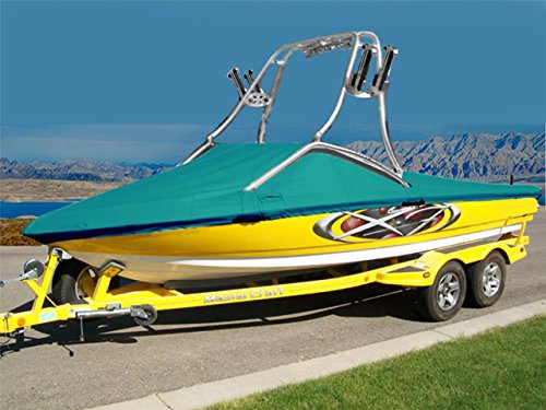 (7oz Solution Dyed Polyester Material Custom Exact FIT Boat Cover Correct Craft Super AIR NAUTIQUE 220 W/Flight Control 1 Tower W/SWPF 2006-2009 )