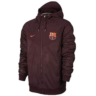 3e53cb6d7b262 Nike Men s FC Barcelona Soccer Windrunner Jacket (Large) Night Maroon