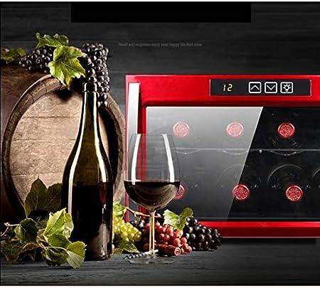 Enfriador de vino termoeléctrico de 8 botellas - Termostato inteligente independiente Termostato - Enfriador para guardar cigarros - Mini gabinete de té refrigerado