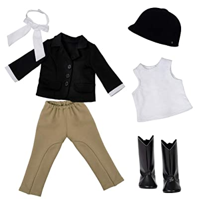 "Adora Amazing Girls 18"" Doll Clothes - Equestrian Outfit with Riding Pant, Jacket Boots, Hat ( Exclusive), Multicolor: Toys & Games"