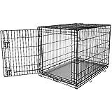 "You&Me 1-Door Folding Dog Crate, 42"" L x 28.5"" W x 30.4"" H, X-Large"