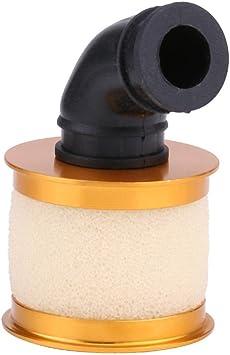 Dilwe Rc Auto Luftfilter Schwamm Öffnen Aluminiumlegierung 1 10 Rc Auto Luftfilter Für Hsp 94122 188 Auto Lkw Gold Spielzeug