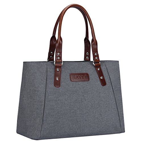 S-ZONE Women's Handbags Lightweight Large Tote Casual Work Bag (Grey) by S-ZONE