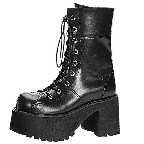 Demonia - Defining Alternative Footware Plateau Stiefel Ranger-301