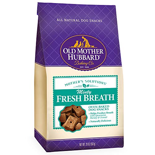 Old Mother Hubbard Mother'S Solutions Minty Fresh Breath Crunchy Natural Dog Treats, 20-Ounce ()