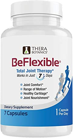 BeFlexible - Joint Support Supplement - Clinically Studied - Boron & Boswellia – Extra Strength Joint Relief – Natural Joint Health Support for Mobility, Discomfort, Aches & Flexibility – 7 Count