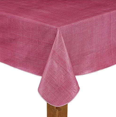 """Essential Home Cafe Bistro Neutral Oblong PEVA Tablecloth  52x70/"""""""