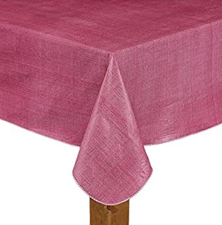 Lintex Cafe Deauville Burgundy Ll 60x84 Oval Vinyl Tablecloth [Kitchen]