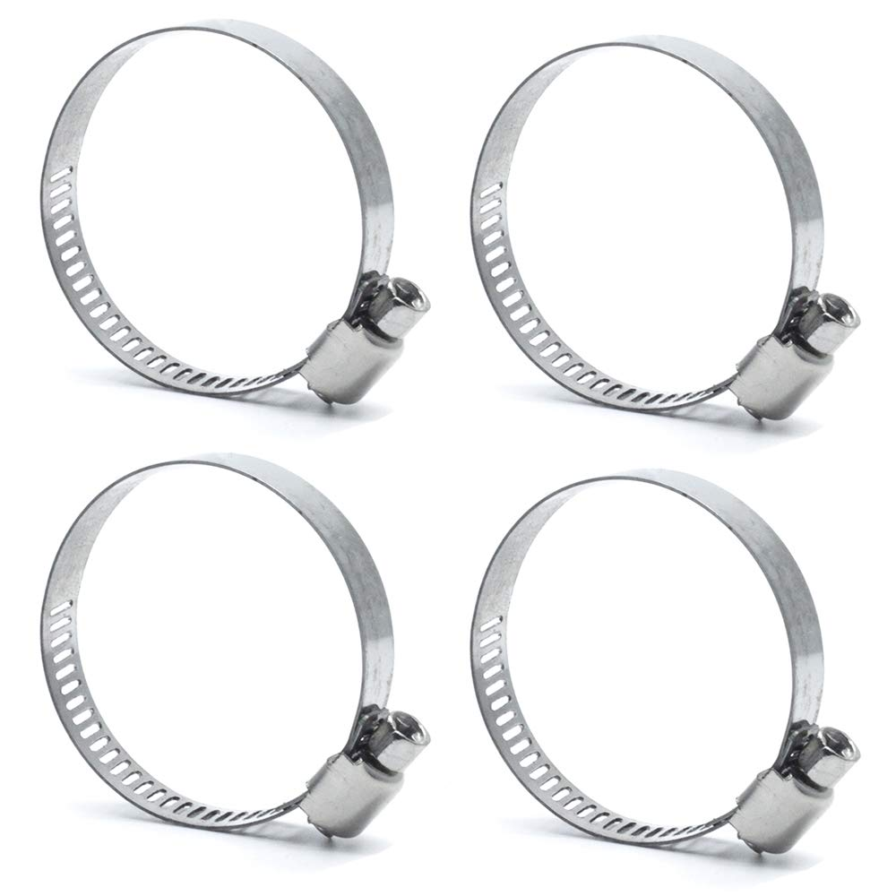Worm Gear Hose Clamp Clips Yoohey 20pcs Stainless Steel Adjustable 32 to 44 mm