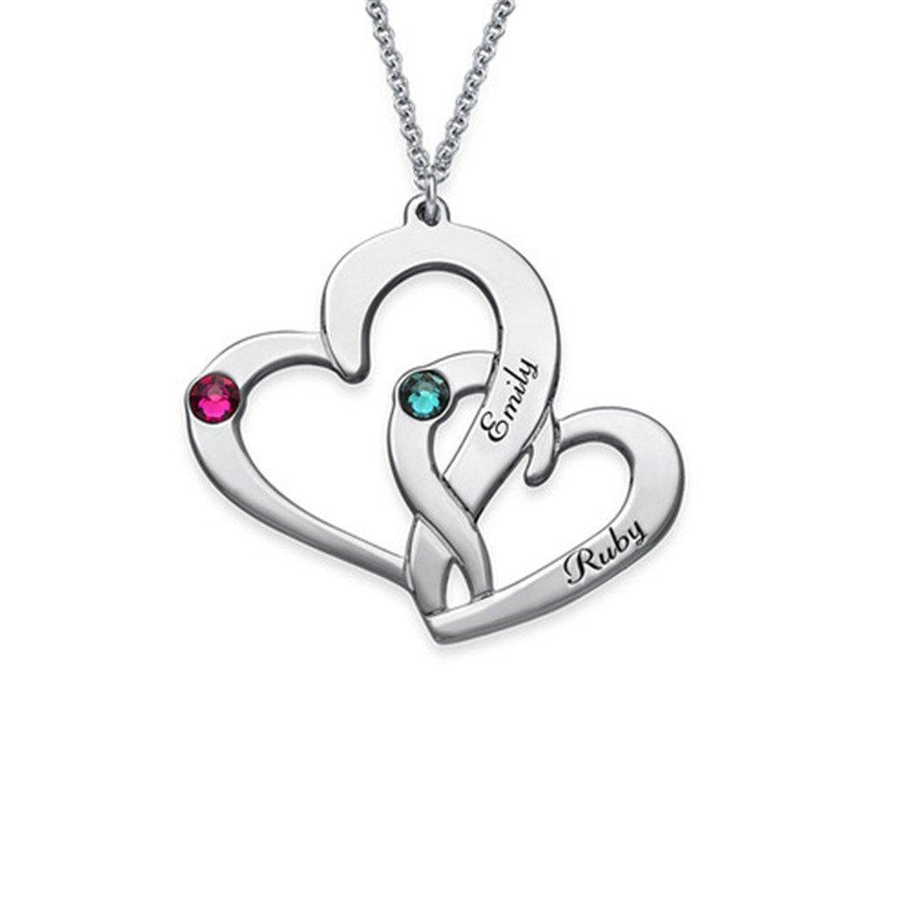 zgshnfgk Fashion personality name custom birth heart shape necklace