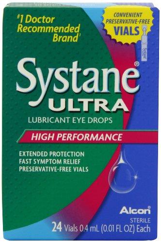 Systane Ultra gouttes oculaires lubrifiantes flacons haute performance sans conservateur, 0,4 ml 24-count