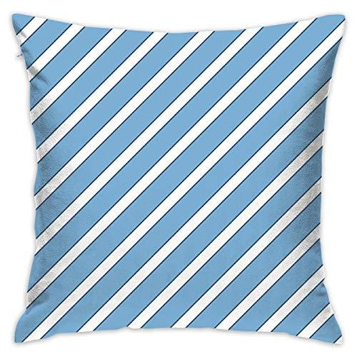 Eson J North Carolina Tar Heel Carolina Blue Navy Blue Light Blue Stripes Stripe_1234 Throw Pillow Covers Decorative Home Office Pillowcases for Sofa 18 X 18 Inch ()