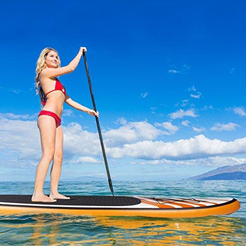 Juego para practicar paddle Shark, de Brast; con tabla de surf de 300 x 76 x 15 cm; hinchable, de doble capa; soporta un peso de 130 kg; con una bomba de ...