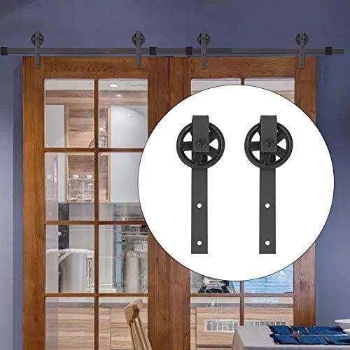 243.8cm / 8 FT Carril de Puertas Correderas Kit de Accesorios de Puertas Herraje para Una Puerta Carril para Puerta Deslizante de Acero Carbono para Armario Deslizante Puerta de Granero: Amazon.es: Bricolaje