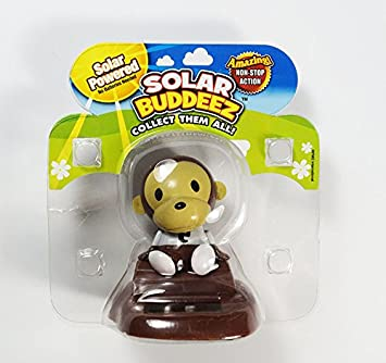 Solar Buddeez Powered Dancing Collectable Monkey Motion Dashboard